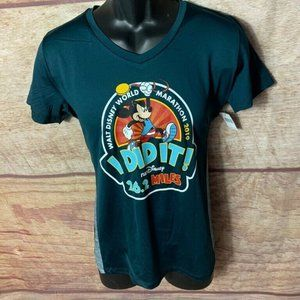 Mickey Mouse Disney Mens Graphic T-Shirt Green L